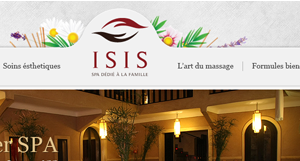 Pixopus web design, Spa Isis